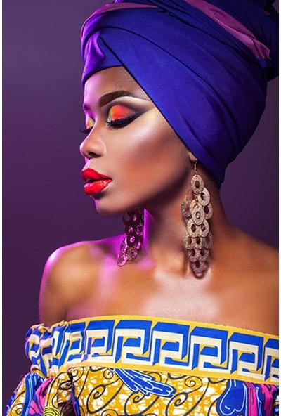 Modern Revizyon Afrikalı Kadın Portresi