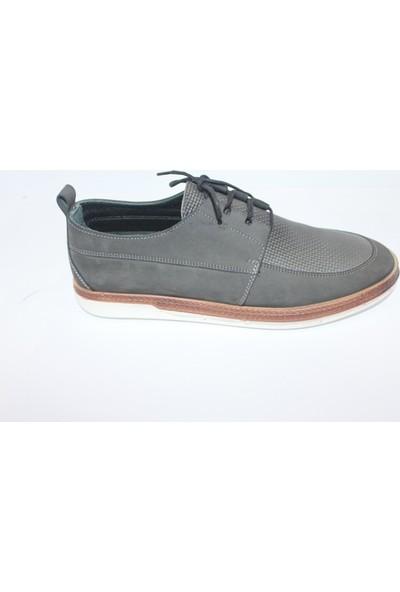 F.Marcetti Gri Erkek Günlük Ayakkabı 33700- Gri - 43