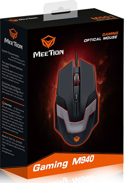 Meetion M940 Gaming Mouse Breathing LED Backlit Oyuncu Mouse