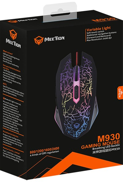 Meetion M930 RGB Gaming Oyuncu Mouse