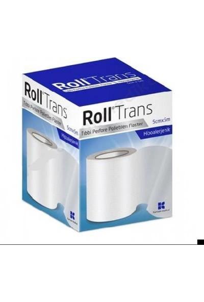 Roll Trans Şeffaf Flaster Perfore Polietilen 5x5 - 10 Adet