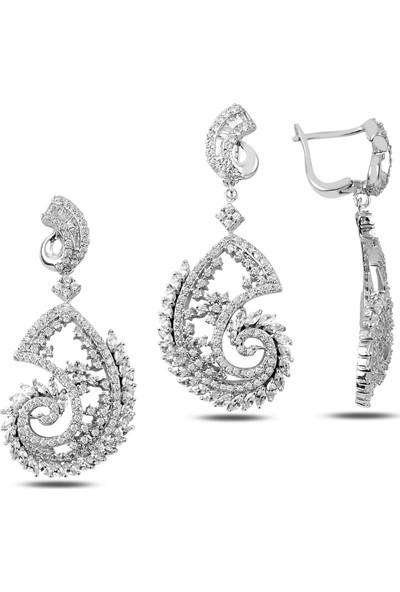 Silverella Gümüş Zirkon Taşlı Set