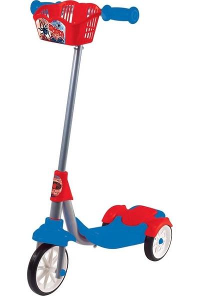 Furkan Toys Spider Style 3 Tekerli Frenli Sepetli Scooter