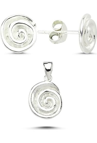 Silverella Gümüş Taşsız Yuvarlak Set