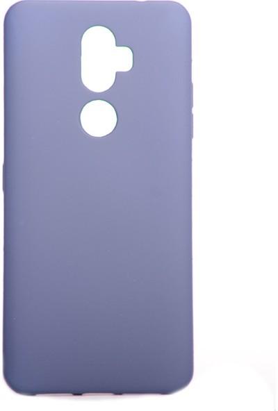KNY Alcatel 3V Kılıf Ultra İnce Mat Silikon Lacivert + Cam Ekran Koruyucu