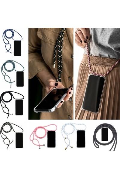 GOB2C Samsung Galaxy Note 9 Plus için Askılı Darbeye Dayanıklı Şeffaf Telefon Kılıfı