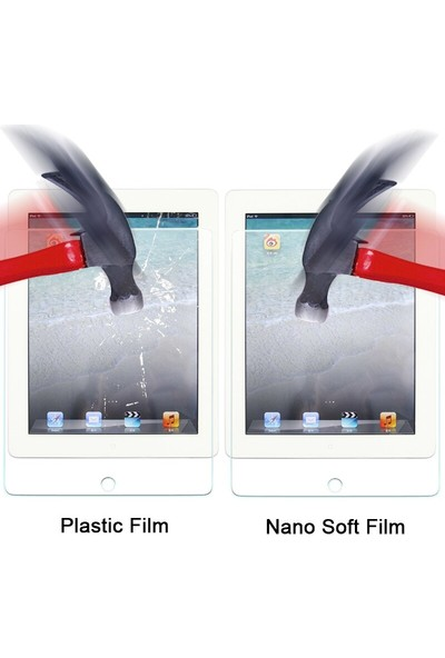 Fujimax Apple İpad Pro 11 2020 2.Nesil 3 Kameralı A2068 A2228 A2230 A2231 Seri 9H 330 Derece Bükülür Nano (Temper + Japon Silikon) Ekran Koruyucu