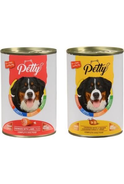 Petty Karışık Köpek Konservesi 24 Adet x 415 gr
