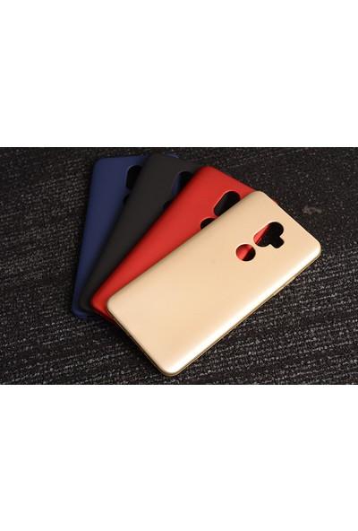 Happyshop Alcatel 3V Kılıf Ultra İnce Mat Silikon Gold + Cam Ekran Koruyucu