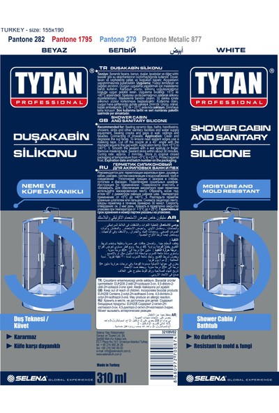 Tytan Professional Duşakabin Silikonu 310 ml Beyaz