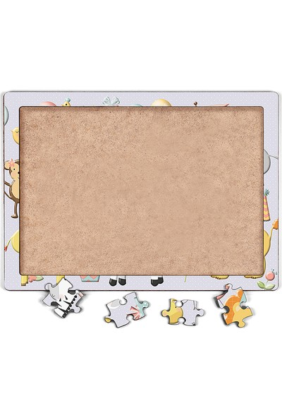 King Of Puzzle Parti Hayvanları Ahşap Puzzle 54 Parça (Lıv-21)