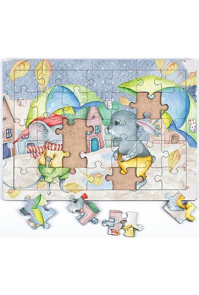 King Of Puzzle Sonbahar Ahşap Puzzle 35 Parça (Xxxv-24)