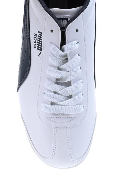 Puma Beyaz Unisex Ayakkabısı 35357212 Roma Basic