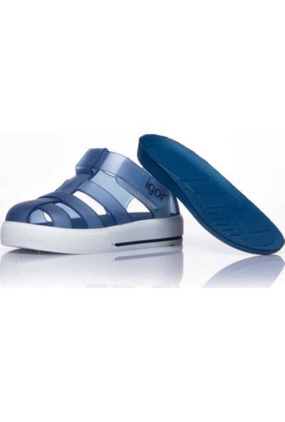Igor 10107 Tenis Lacivert Kız Çocuk Sandalet
