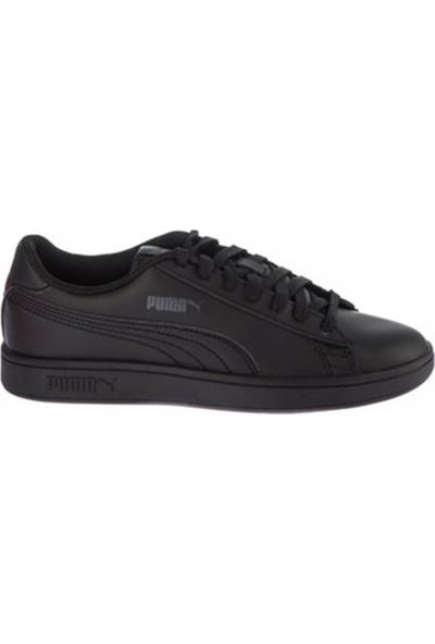 Puma Smash V2 L Siyah Unisex Deri Sneaker