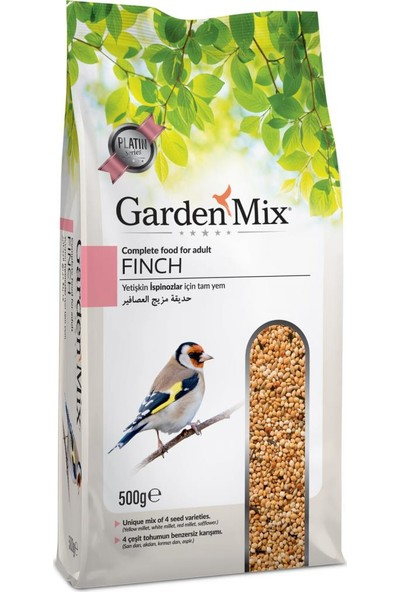 Gardenmix Platin Hint Bülbülü Finch Yemi 500 gr ( 5 Adet )