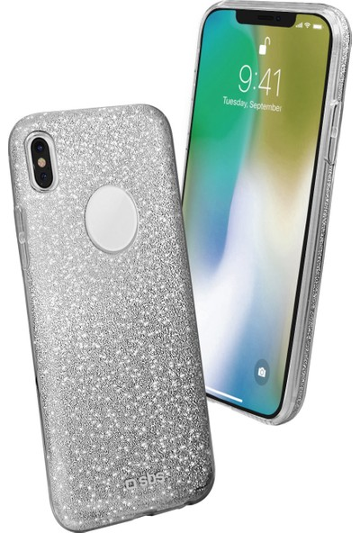 Sbs Sparky Apple iPhone X Simli Kılıf Gri