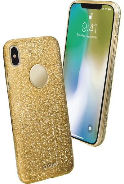 Sbs Sparky Apple iPhone X Simli Kılıf Sarı