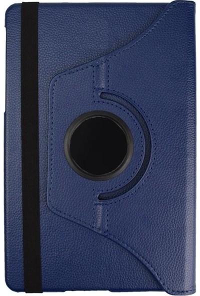 EssLeena Samsung Galaxy Tab A6 Sm-P580/P585 10.1 İnç 360 Derece Dönebilen Kılıf + 9H Koruyucu Cam + Stylus Kalem + Şarj Kablosu (Kalemli Model) Lacivert