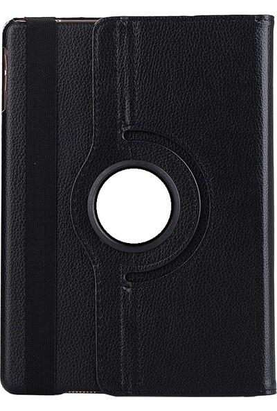 EssLeena Samsung Galaxy Tab A6 Sm-P580/P585 10.1 İnç 360 Derece Dönebilen Kılıf + 9H Koruyucu Cam + Stylus Kalem + Şarj Seti (Kalemli Model) Siyah