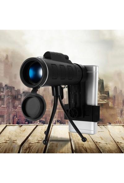Triline Telefon Kamera Dürbün 40X Zoom Monoküler Hd El Teleskopu
