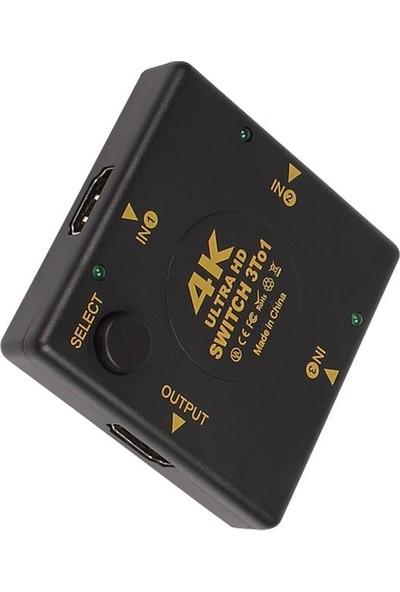 Triline 4K Hdmı 3 İn 1 Switch 3 Giriş 1 Çıkış Hdmı Çoklayıcı
