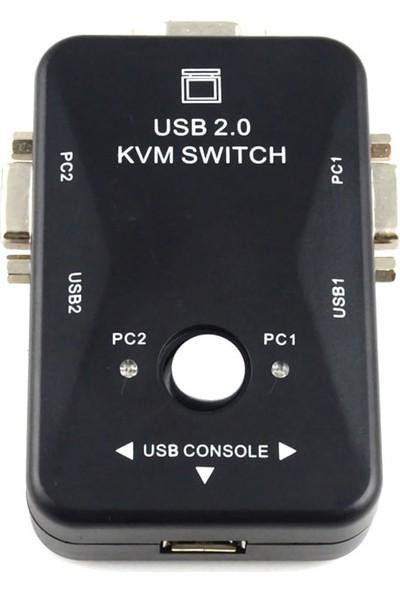 Triline 2 Port Usb Kvm Switch 2Pc Tek Monitör Kontrol