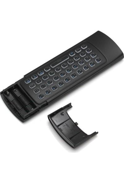 Triline Mx3 Pro Türkçe Air Mouse Smart Tv Işıklı Ses Destekli Kumanda Klavye