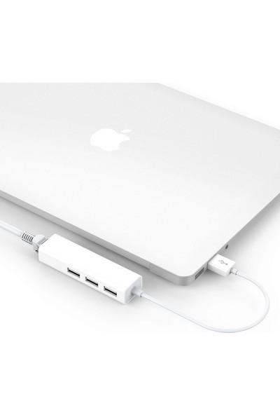 Triline Usb To Rj45 Ethernet + Usb 3 Port Hub Çoklayıcı