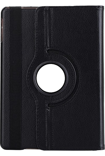 EssLeena Samsung Galaxy Tab A Sm-T510/T515/T517 10.1 İnç 360 Derece Dönebilen Kılıf + Film + Stylus Kalem Siyah