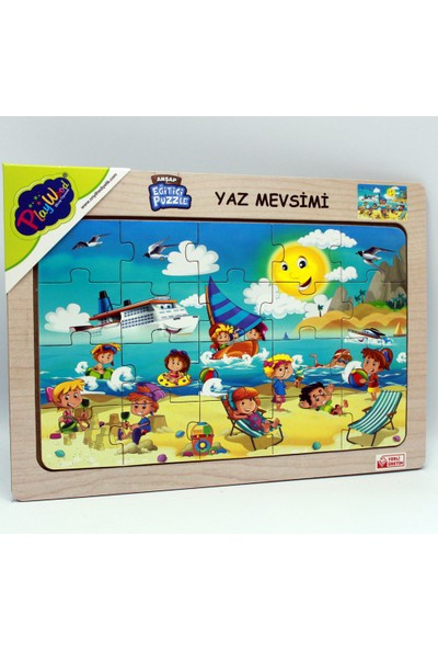 Playwood Ahşap Eğitici Puzzle / Yaz Mevsimi