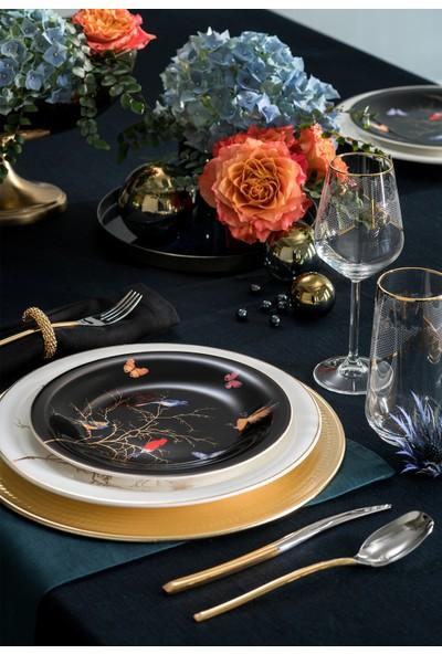 Karaca Fine Pearl Grace Black 62 Parça 12 Kişilik İnci Yemek Takımı