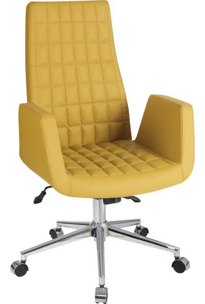 Uzay Ofis Solid Müdür Koltuğu - Sarı