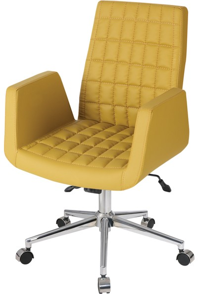 Uzay Ofis Solid Şef Koltuğu - Sarı
