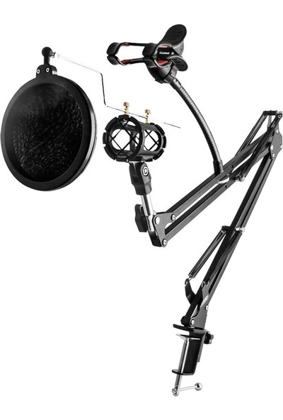 Gringo Pop Filtre Profesyonel Stüdyo Mikrofon Standı