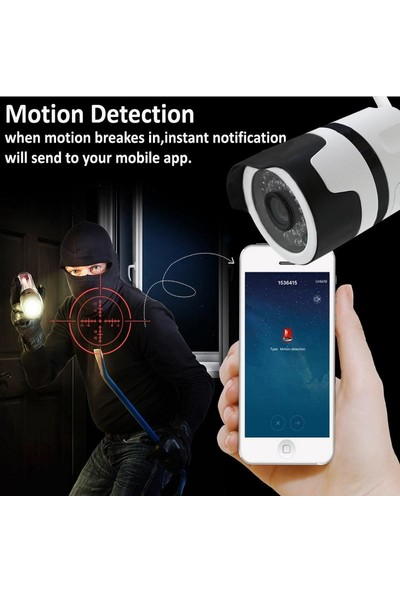 Dextel 1080P Su Geçirmez Kablosuz Iç ve Dış Mekan Ip Güvenlik Kamera