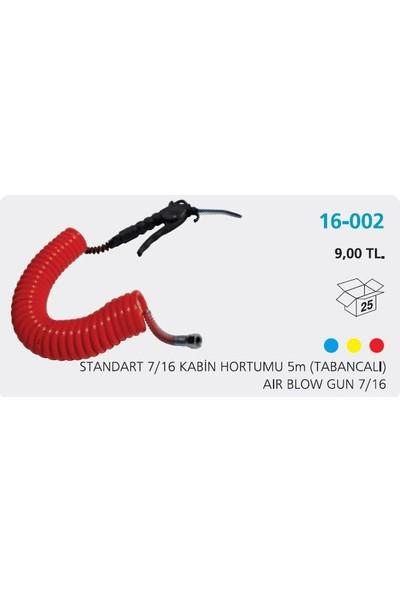 Aksa Kabin Hortumu Tabancalı Kırmızı 5Mm 716