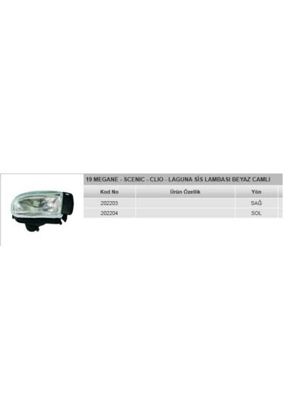 Ayfar Sis Lambası Beyaz Camlı Sağ Renault R19 Megane Scenıc Clio Laguna Em. Ayf 202203