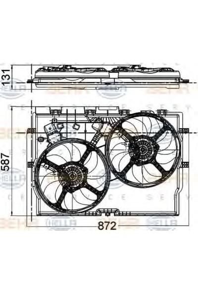 Behr Fan Motoru Fiat Ducato 2.2Jtd 2.3Jtd 06 Bhr 8Ew351041 431