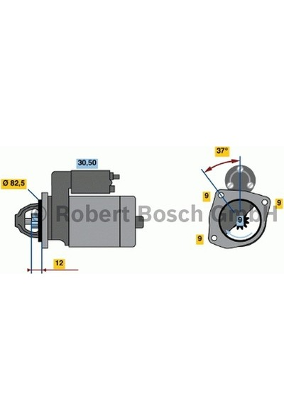 Bosch Marş Motoru Bravo Linea Punto Doblo 1.6 Multıjet