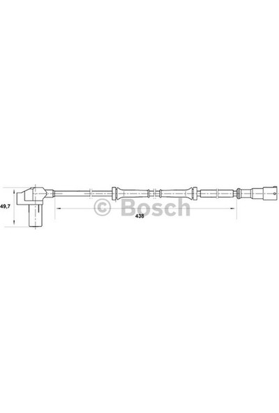 Bosch Abs Sensörü Ön Clio II 1.5 1.9D 98