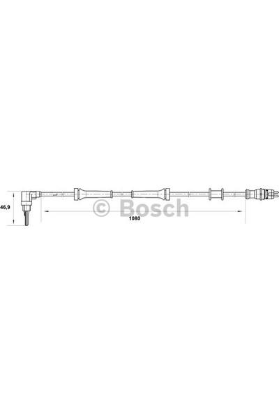 Bosch Fiat Marea Sol Ön Abs Sensörü Lancia 46763852