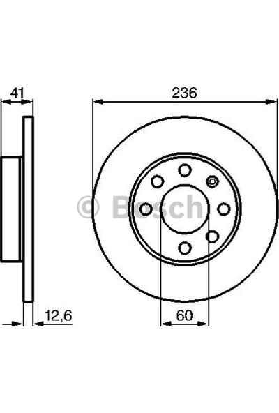 Bosch Fren Diski Ön 6D 236Mm Corsa B Vectra A B 95