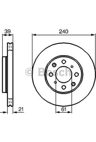 Bosch Fren Diski Ön 4D 240Mm Jazz 1.2.1.4 Logo 1.3 02