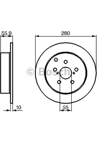 Bosch Fren Diski Arka 5D 280Mm Avensis 03 08