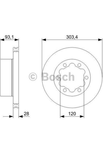 Bosch Fren Diski Arka 6D 303Mm Sprinter Crafter 06