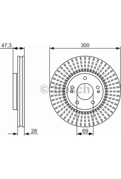 Bosch Fren Diski Ön [7D 300Mm] Ix35 1.6 2.0 10 G4Fd