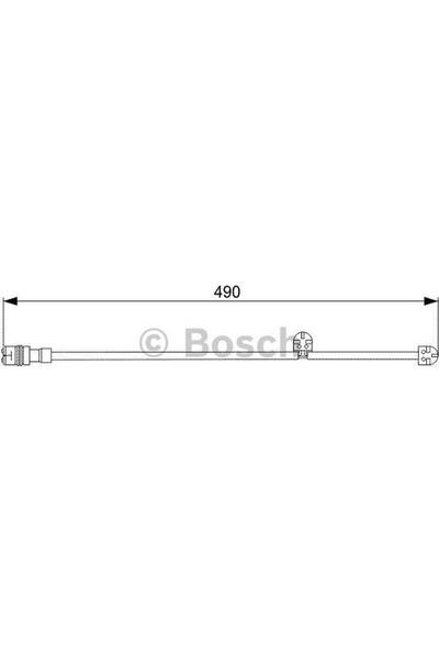 Bosch Disk Balata İkaz Kablosu 490Mm 911 3.6 06