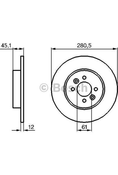 Bosch Fren Diski Arka 280.5Mm Kangoo 01 07
