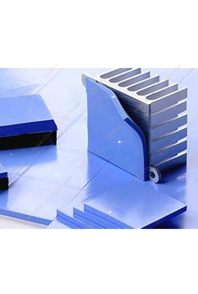 Kuvars Termal Pad Ped Işlemci Soğutucu Silikon 10 cm x 20 cm Ölçü 1.5 mm Mavi